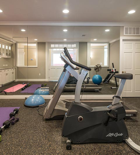 Basement Exercise Room Wayland