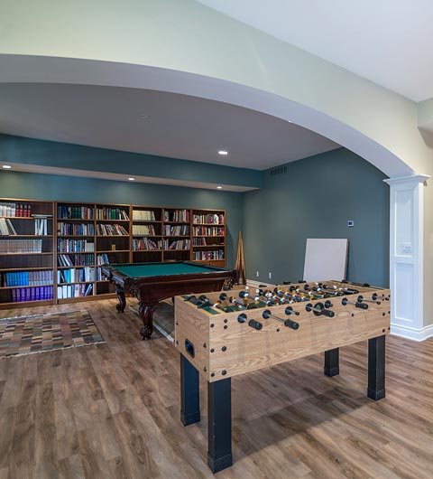 Game Room Basement Remodeling Hudsonville