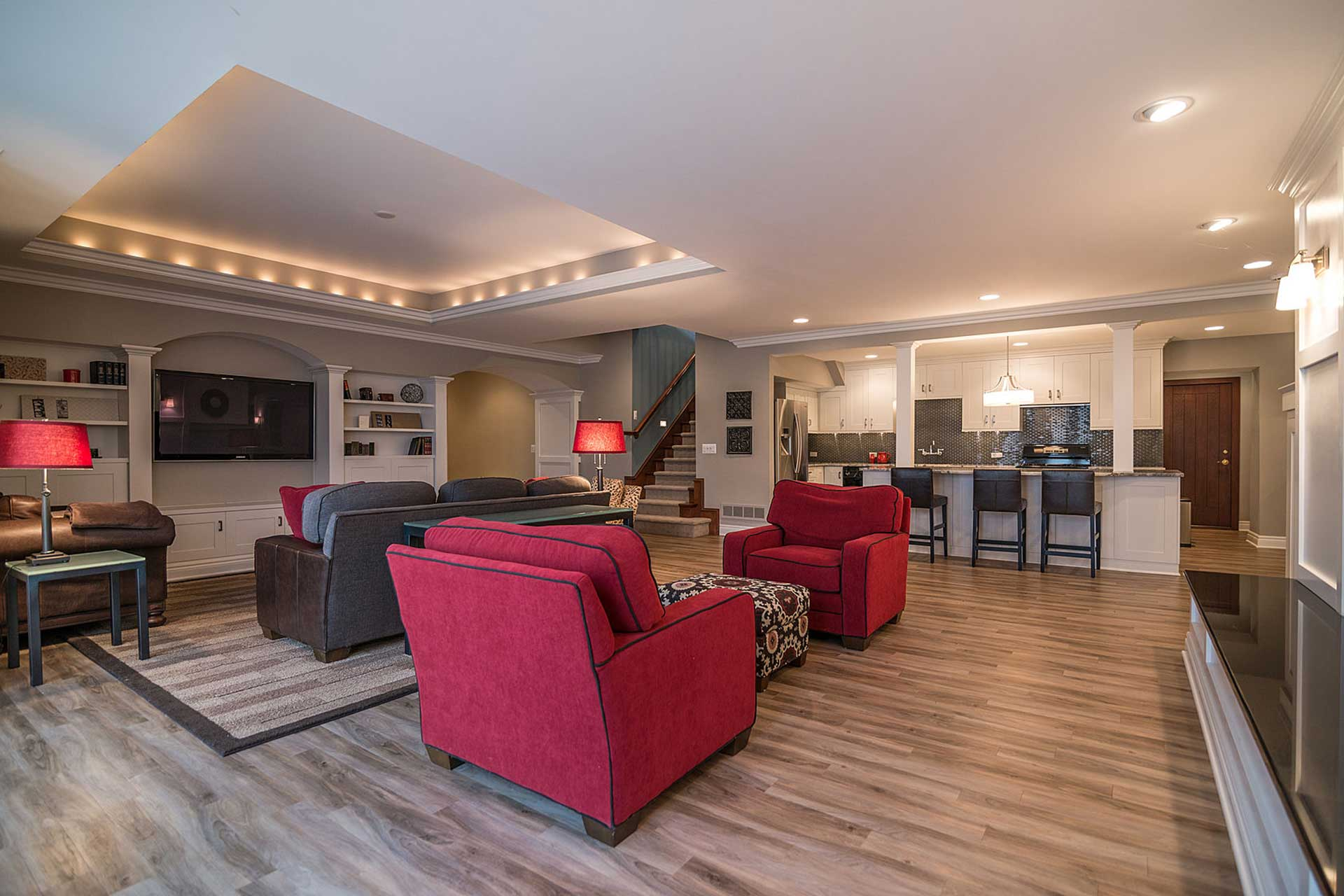 Basement Finishing Contractors Comstock Park Mi With Remodeling